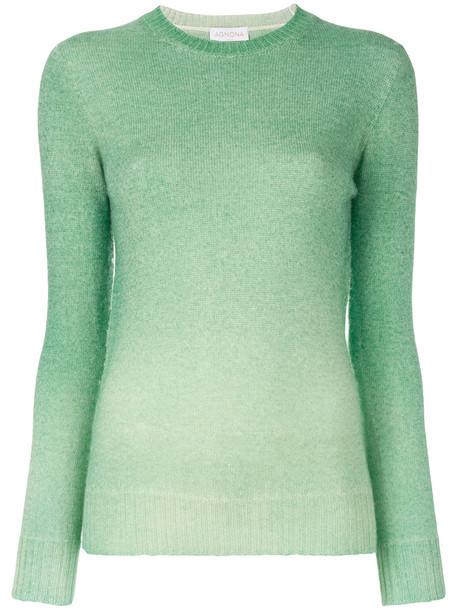 top long women knit green