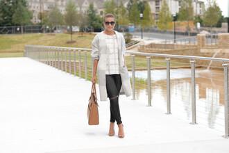 fashionably lo blogger coat blouse jeans