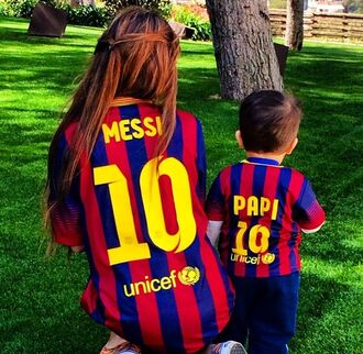 shirt messi bleu football football shirts barcelona number girl boy papi soccer left one