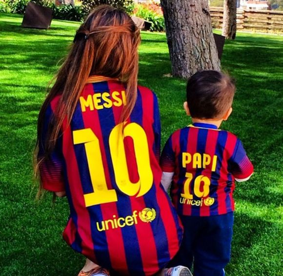 boy shirt girl messi bleu football football shirts barcelona number papi soccer left one