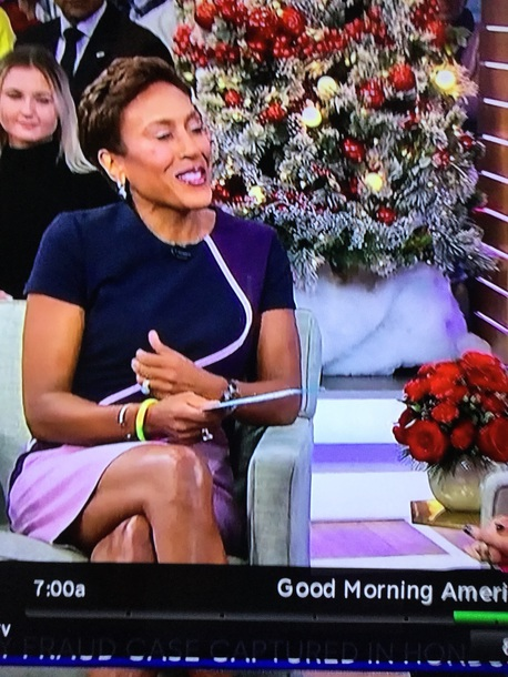 dress robin roberts dress today on gma