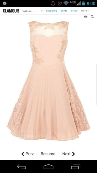 dress pink dress pastel dress lace top