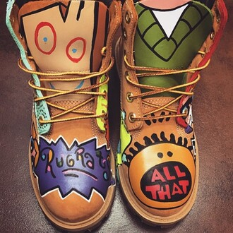 shoes boots 90's all that timberlands boots 90's shoes rugrats