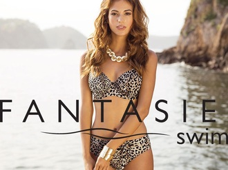 swimwear leopard print