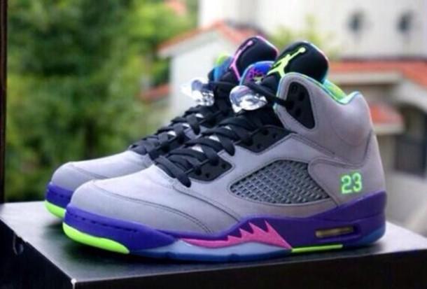 shoes neon jordans air jordan air jordan 5 bel air bel air bel-airs 5's pink green jordan's bel-air 5 bel air 5