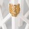 Kenzo gold-plated tiger ring - kenzo jewelry women - kenzo e-shop