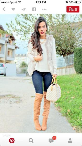 coat fur vest