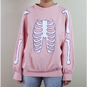 sweater,creepy cute,skeleton,pastel,pastel goth