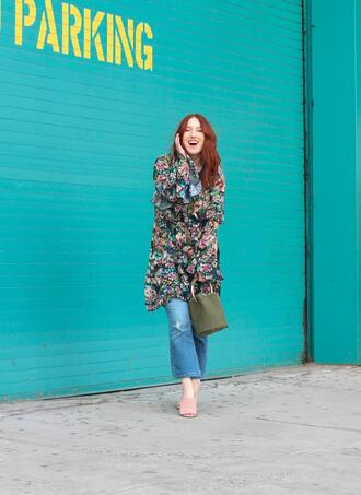 tf diaries blogger dress jeans bag spring outfits floral dress