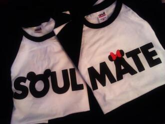 sweater miney mouse white black mickey mouse shirt soulmate couple minnie mouse swag relationships disney t-shirt matching couples soulmates cute baseball shirt mouse bow soul mate red best two pair matching shirts cardigan