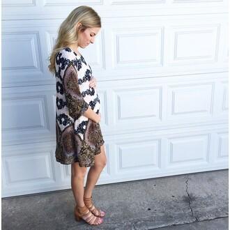 dress boho dress patterned dress mini dress forever 21 maternity