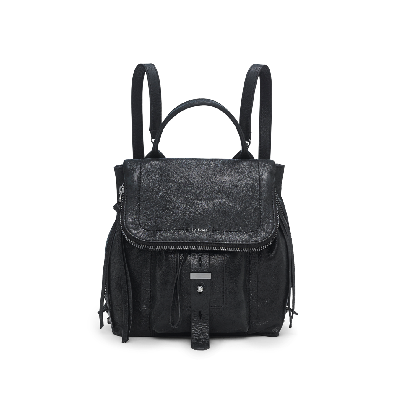 Designer leather backpack