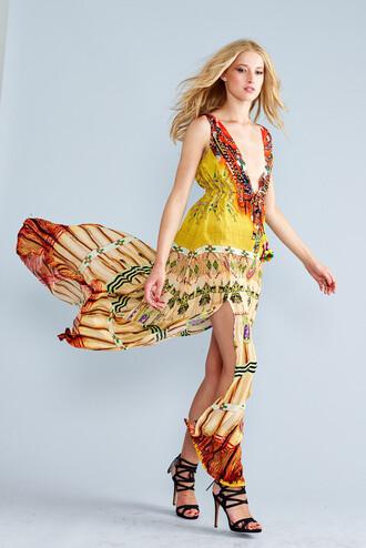 dress parides yellow dress designer dress silk bikiniluxe