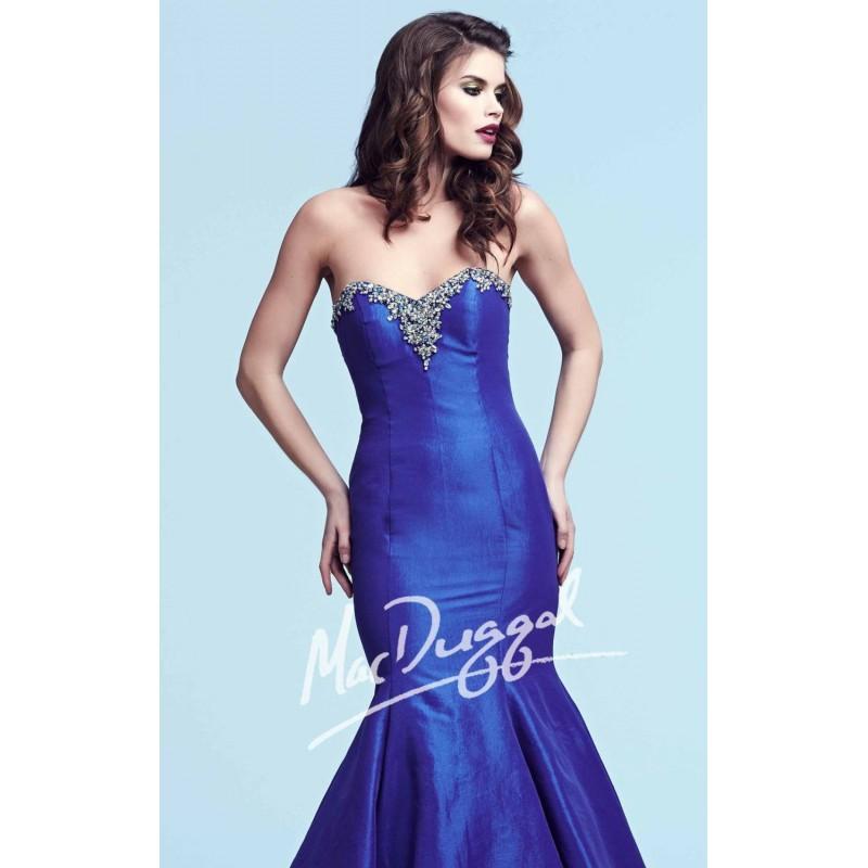 Strapless Taffeta Mermaid Gown by Royalty by Mac Duggal 61601Y - Bonny Evening Dresses Online