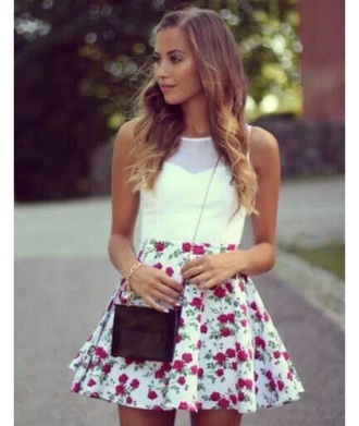 dress white dress white white floral short dress skirt floral skirt dress floral dress white floral skirt white floral dress shirt white crop tops white shirt white blouse