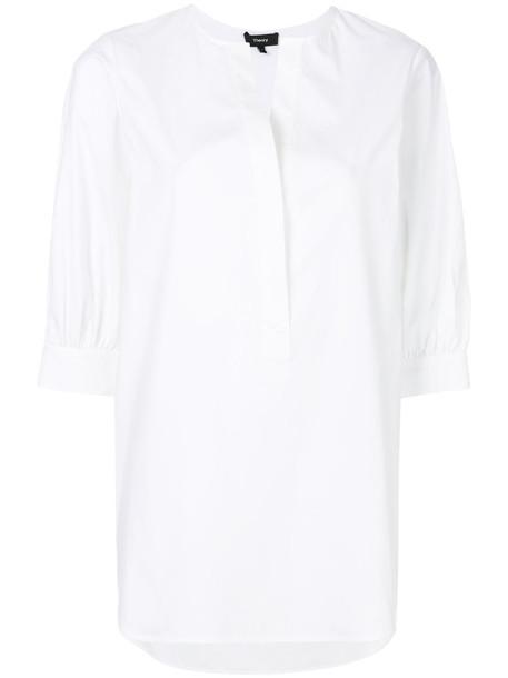 shirt open women spandex white cotton top