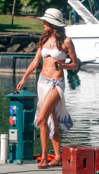 swimwear bikini top bikini alessandra ambrosio summer outfits beach hat