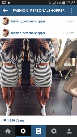 cute dress top style jupe haut combi top and pencil skirt