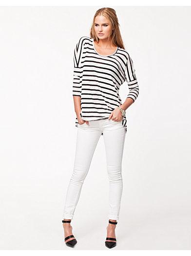 Stripe Tunic - River Island - Cream - Trøjer - Tøj - Kvinde - Nelly.com
