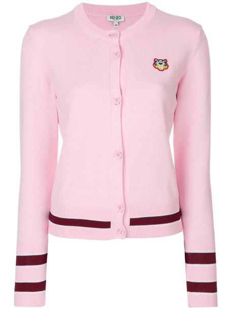 Kenzo cardigan cardigan mini women tiger cotton purple pink sweater