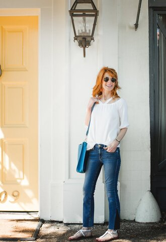 themiddlepage blogger top bag shoes jewels sunglasses