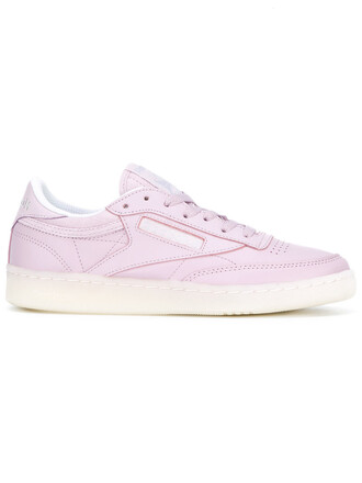 vintage women sneakers leather purple pink shoes