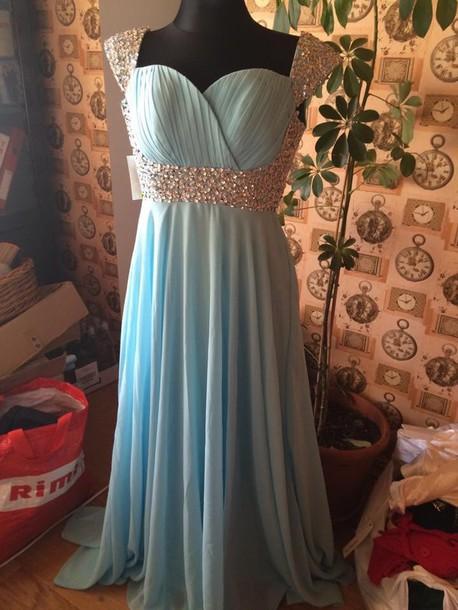 dress light blue red dress maxi dress rhinestones homecoming dress ball gown dress ball gown dress evening dress