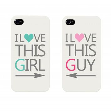 I Love This Girl and I Love This Guy Couples Matching Cell Phone Cases for iphone 4, iphone 5, iphone 5C, Galaxy S3, Galaxy S4, Galaxy S5 on Wanelo