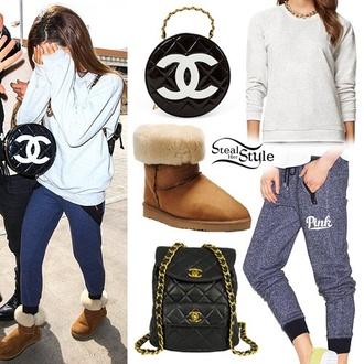 pants ariana grande bag shirt chanel inspired