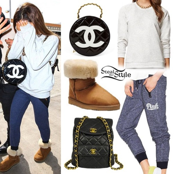 pants ariana grande bag shirt chanel inspired