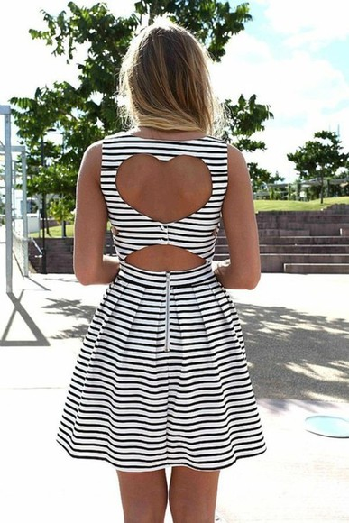 dress striped dress summer stripes summer dress clothes womens clothes heart