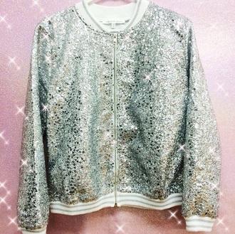 jacket glitter letterman sequins sequin jacket