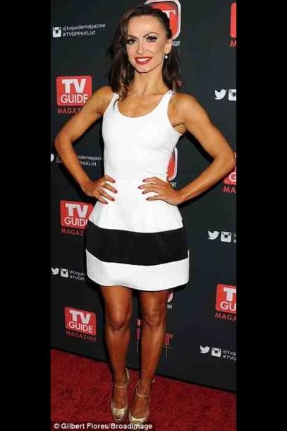 dress white dress striped dress