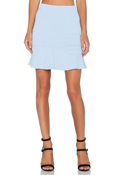 LaPina by David Helwani Rayne Skirt in blue