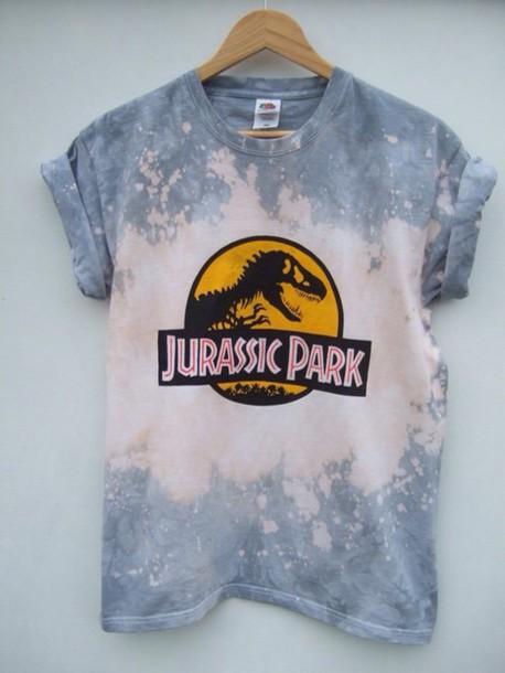 t-shirt jurassicpark tie dye
