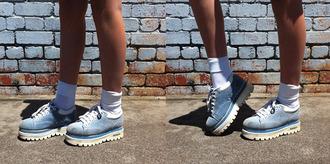 shoes sketchers trainers baby blue platform sneakers cute pretty blue platform shoes