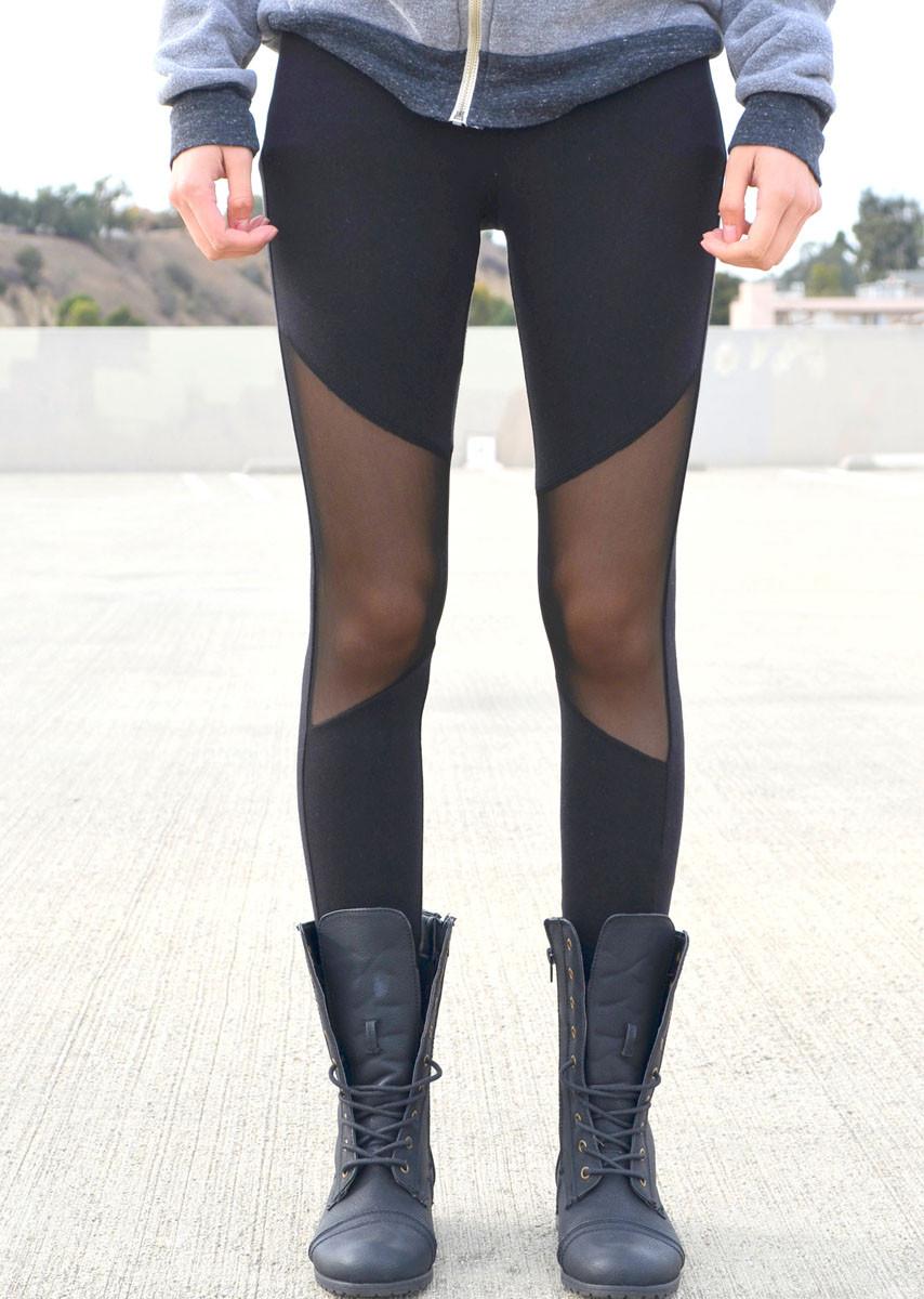 Mesh knee leggings – shopcivilized