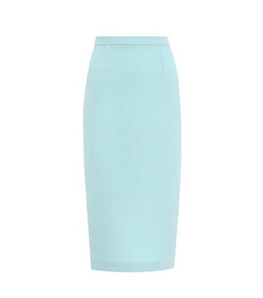 Roland Mouret skirt pencil skirt wool blue
