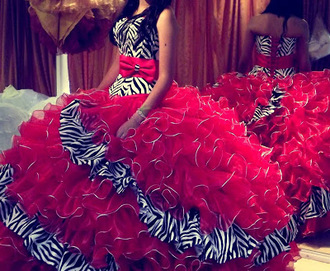 dress zebra print quincè pink pretty quinceanera dreses bow dress