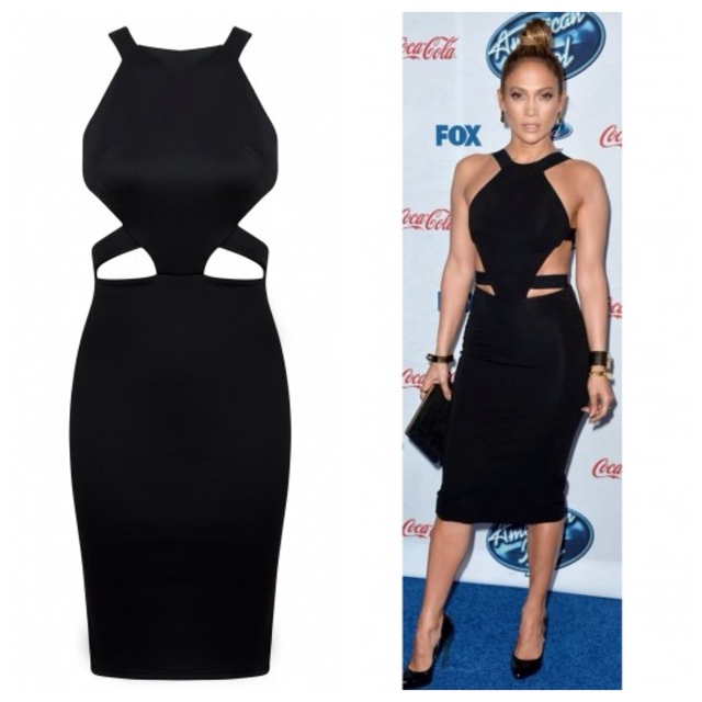 CELEBRITY INSPIRED CUT OUT BLACK BODYCON ... | Chic Empire | Depop