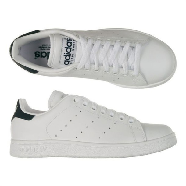 shoes stan smith stan smith sneakers black white green