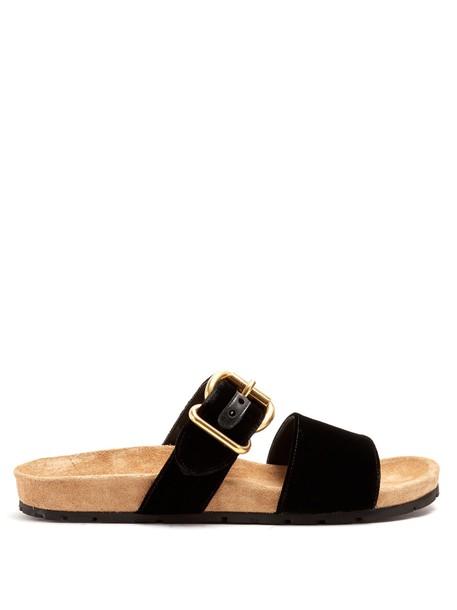 Prada suede velvet black shoes