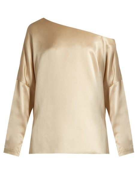 Tibi top silk satin