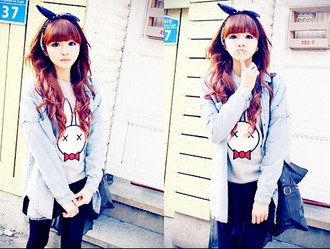 shirt rabbit x.x kawaii t-shirt mignon