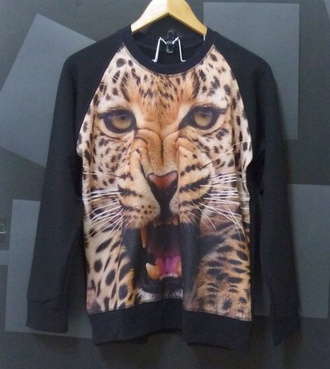 panther lion sweater