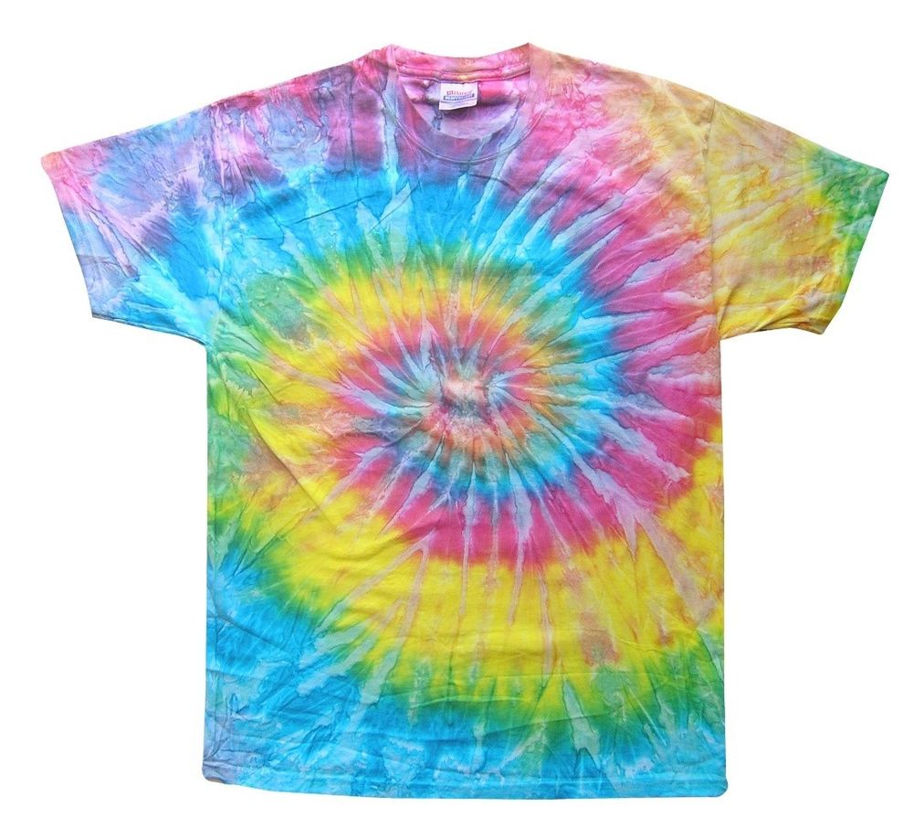 Light Rainbow Tie Dye T Shirts Size Youth Xs To Adult Xl