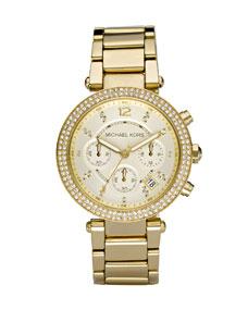 Michael Kors Parker Glitz Watch, Golden - Michael Kors