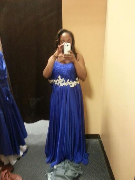 dress royal blue evening gown