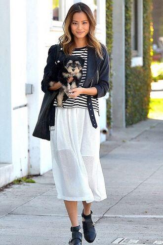 jacket jamie chung skirt midi skirt top