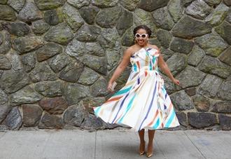 closetconfections blogger dress sunglasses jewels bag shoes midi dress party dress pumps